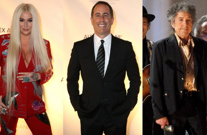Kesha Was Denied a Hug by Jerry Seinfeld, So She Got Two From Bob Dylan