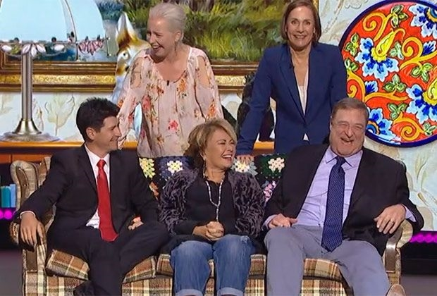 'Roseanne': First photos from set of ABC revival — Who's missing?