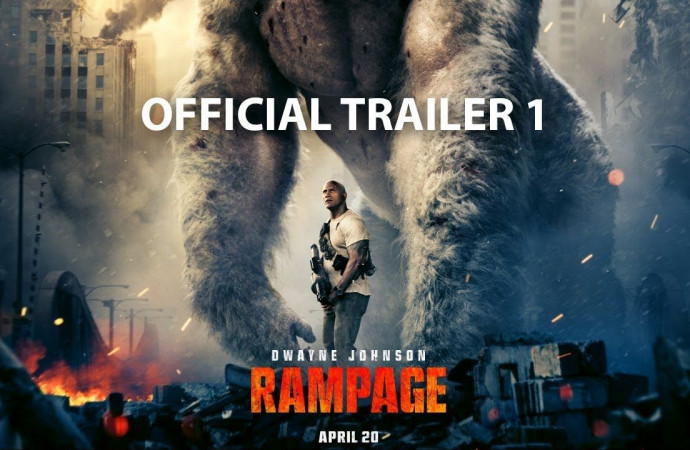'Rampage' trailer: The Rock saves Chicago from mutant monsters