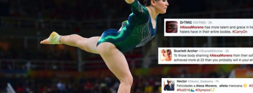 Olympic gymnast is body shamed, Twitter fights back