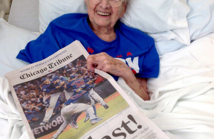 108-Year-Old Chicago Cubs Fan Dies Six Days After Celebrating Second World Series Victory: Report