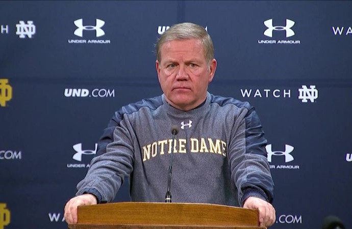 Brian Kelly: Notre Dame wasn't as sharp in second half