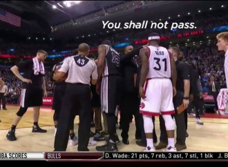 A Spurs assistant coach had the perfect response to a Raptors player sneaking into their huddle