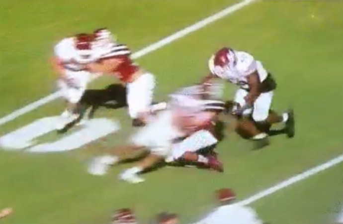 Mississippi State ends spring football game early after player puts brutal hit on teammate