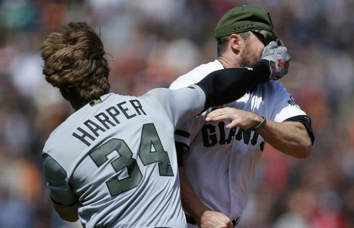 Kayla Harper definitely doesn't care about Bryce Harper's baseball brawl