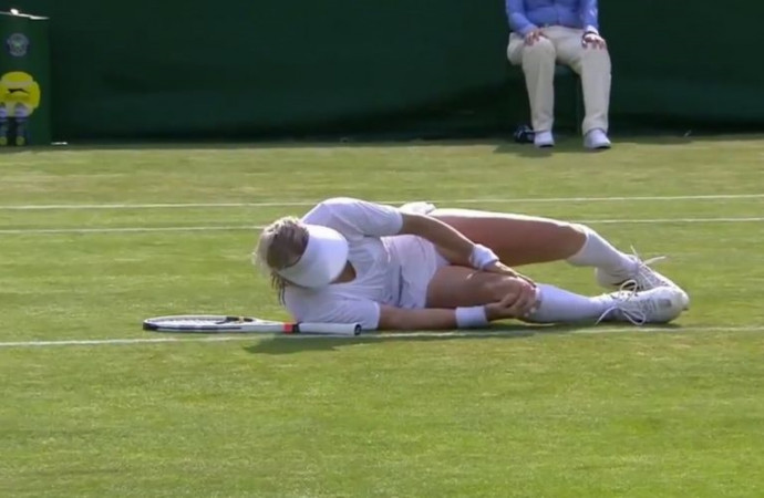 As Wimbledon player wailed in pain from horrific injury, medics 'froze,' opponent says