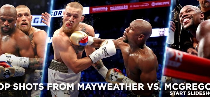 Floyd Mayweather stops Conor McGregor in 10th round as Irishman fades late