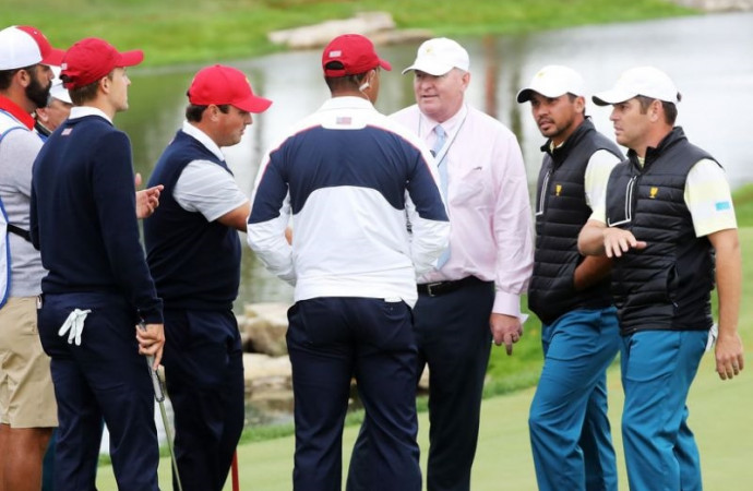 Tiger Woods gets rejected during attempt to overturn Presidents Cup penalty