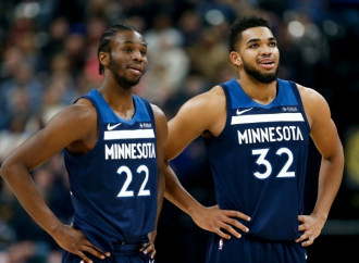 With Jimmy Butler sidelined, training wheels are off for Karl-Anthony Towns, Andrew Wiggins