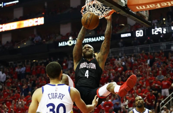 The Rockets roar back and get even, blowing out the Warriors in Game 2