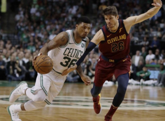 The Marcus Smart Experience is all about shots — stopping them and taking them