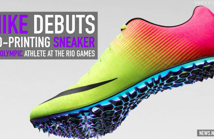 Nike debuts 3D-printing sneaker on Olympic athlete at the Rio Games