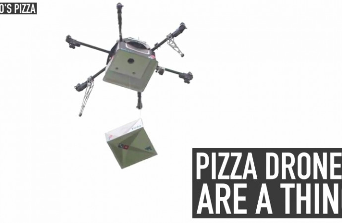 Pizza drones are a thing
