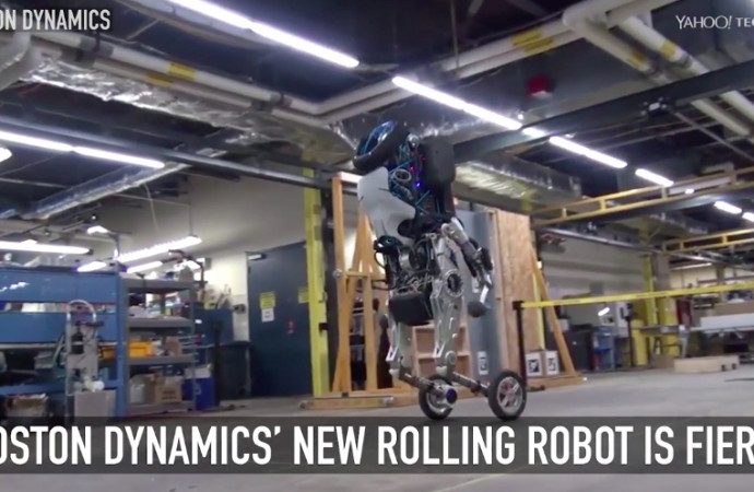 Boston Dynamics\' new rolling robot is fierce