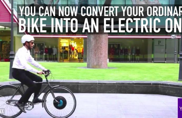 You can now convert your ordinary bike into an electric one