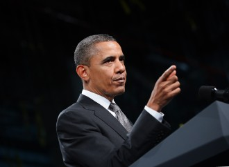 Obama tries to secure America's leadership