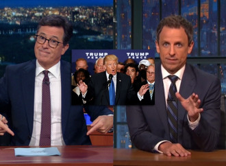 'F*** you': Stephen Colbert, Seth Meyers reach same conclusion on Trump's birther announcement