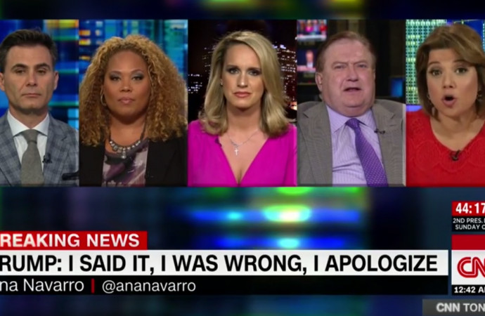 CNN panel on Trump tape implodes during heated discussion of his lewd language