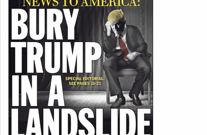'Bury Trump in a Landslide': Daily News goes nuclear on GOP nominee