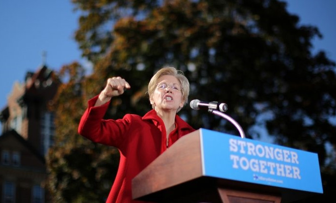Elizabeth Warren to Donald Trump: 'Nasty women vote!'