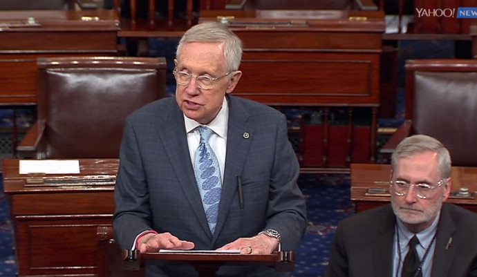 Harry Reid blasts Trump, Bannon from Senate floor