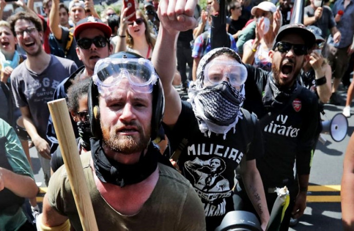 As neo-Nazis grow bolder, the 'antifa' has emerged to fight them