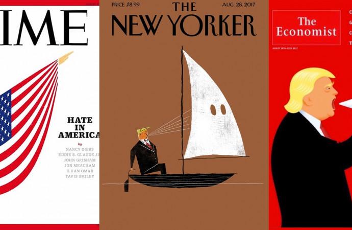 Striking magazine covers criticize Trump's Charlottesville response