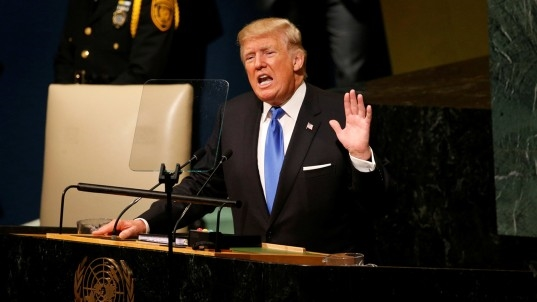 Trump warns U.S. may have to 'totally destroy' North Korea