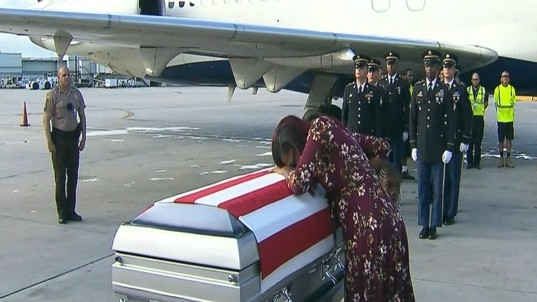 Trump accuses congresswoman of fabricating what he said to dead soldier's widow
