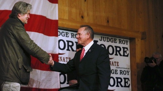 After allegations, Moore avoids spotlight, questions
