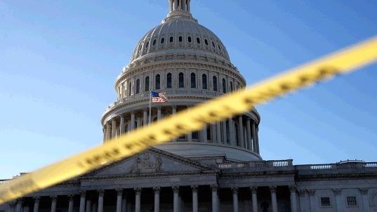 Lawmakers react to government shutdown with hashtags #TrumpShutdown, #SchumerShutdown